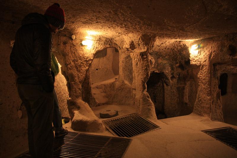 une des pièces de la cité souterraine de Kaymakli