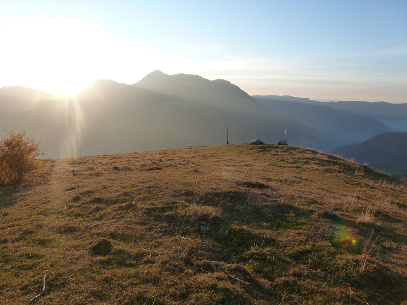 la Croix d'Allant avec le Mont Colombier en arrière plan