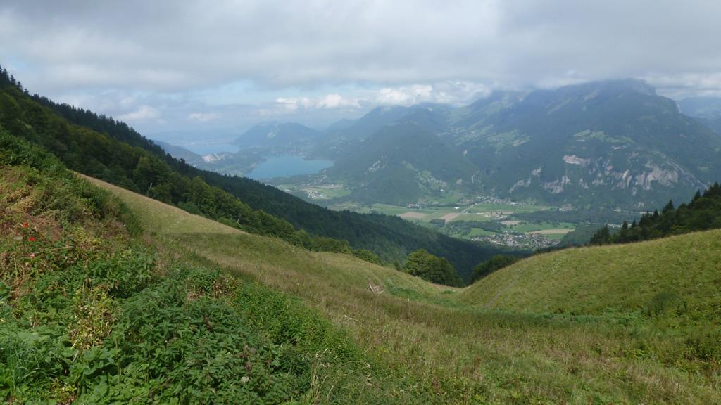 le lac d'Annecy depuis le châlet de la Servaz