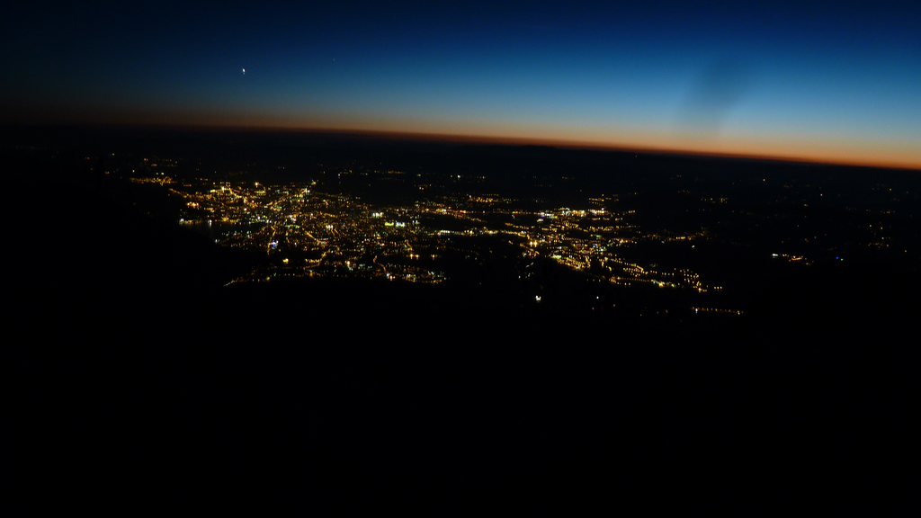 la nuit est tombée sur Annecy