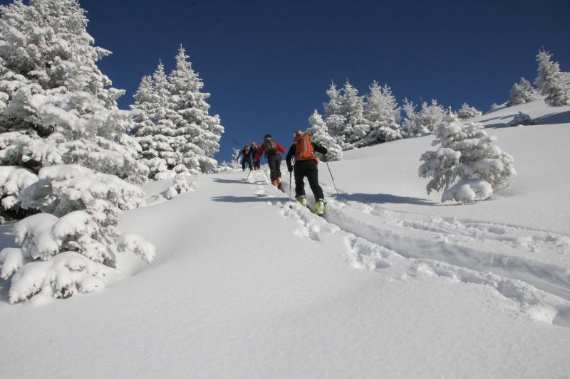 Yannick, Wilfrid, Romain et Nicolas à la montée vers le Petit Croise Baulet
