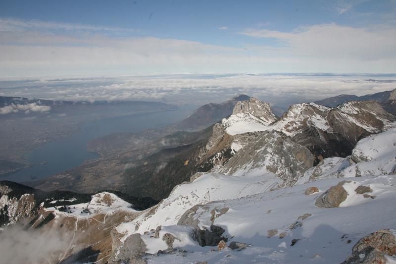 le lac d'Annecy depuis le sommet