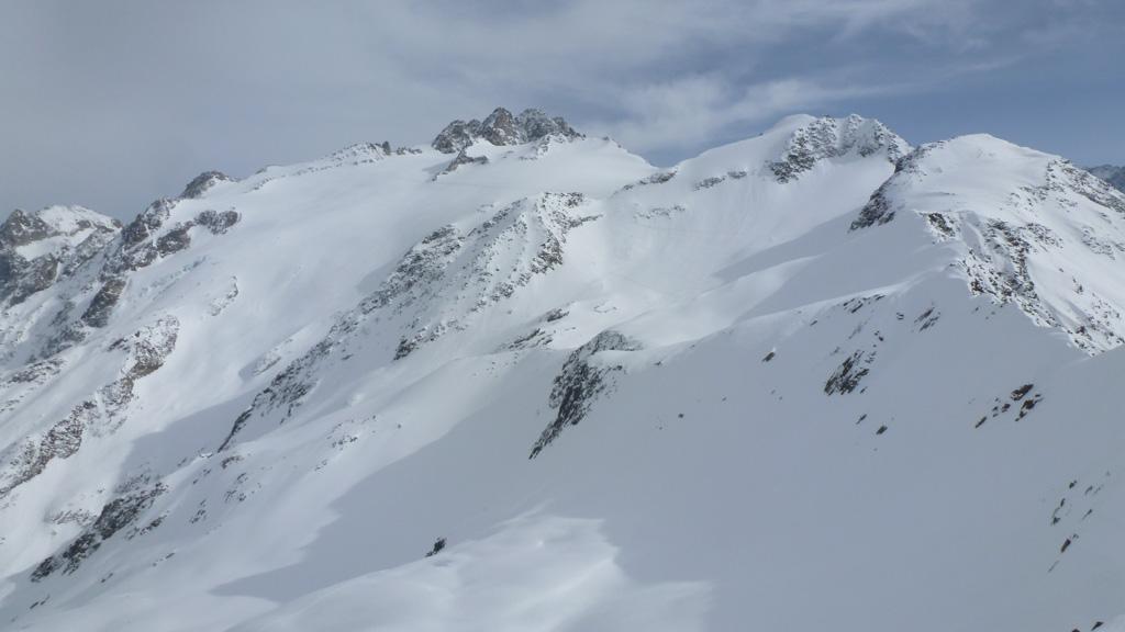 l'Aiguille du Tour et la Pointe des Grands depuis le sommet des Grandes Autannes