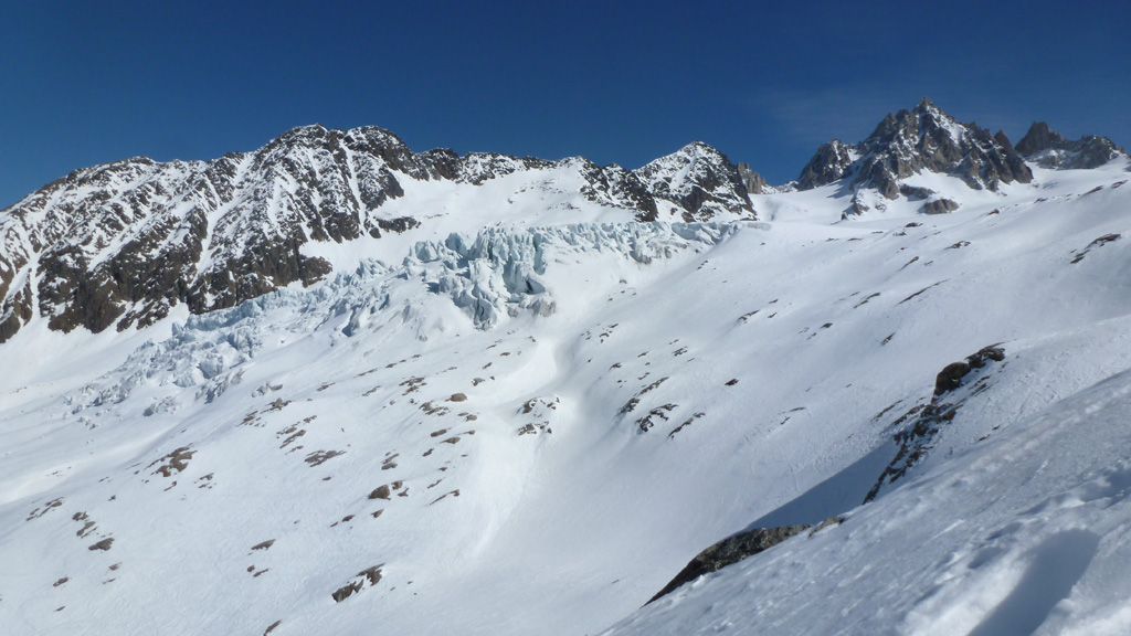 le glacier du Tour et ses séracs