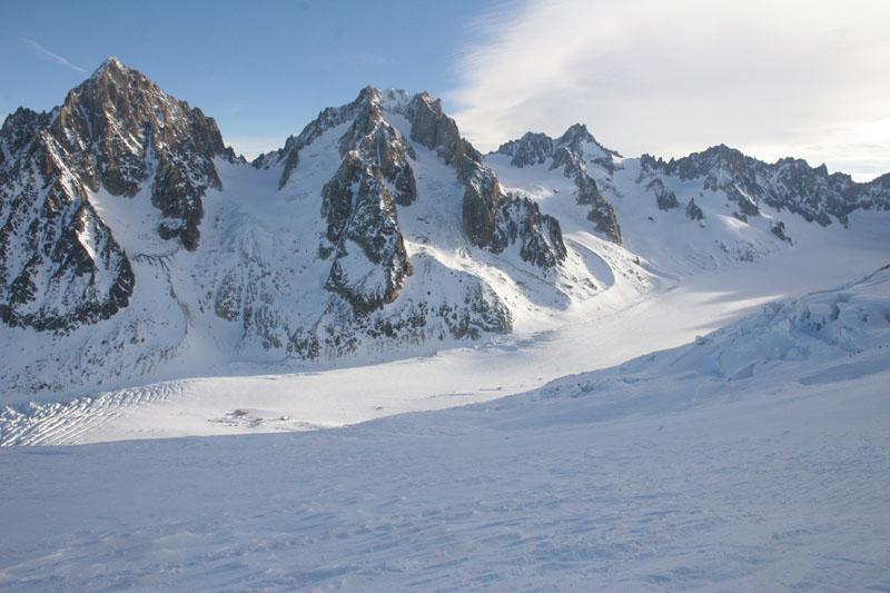 l'Aiguille du Chardonnet et l'Aiguille d'Argentière depuis le col des Grands Montets
