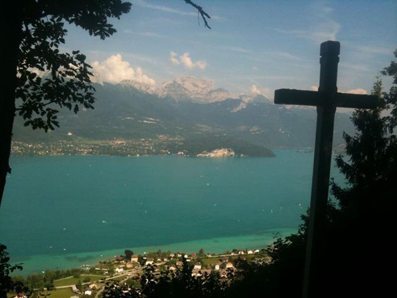 la Tournette et le lac d'Annecy depuis la Croix du Crêt